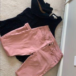 Lauren Conrad mauve jeans